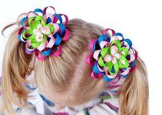 Beginner how to make flower mum bows hair bow by BirdsongPatterns, $8.00