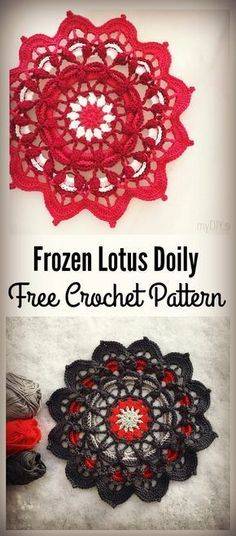 Crochet Crown Of Hearts Doily