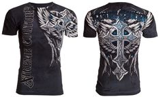 Xtreme Couture AFFLICTION Men T-Shirt PANTHER Cross Wings Tattoo Biker M-4XL $40 #Affliction #GraphicTee