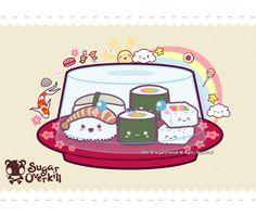 Kawaii Sushi by =mAi2x-chan on deviantART *mos*