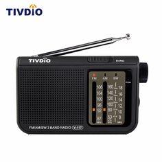 71.28$  Buy here - http://ali5vj.shopchina.info/go.php?t=32805172470 - 5pcs TIVDIO V-117 3 Band FM / AM / SW Radio Battery Powered Emergency Radio Receiver Multiband Radio Portable F9207A  #magazineonlinewebsite