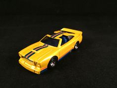 2012 Hot Wheels Boulevard Underdogs 78 FORD MUSTANG II Yellow Real Riders LOOSE #HotWheels #Ford