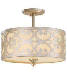 Minka-Lavery Nanti 3 Light Semi-flush in Nanti Champagne Silver 1498-252 #lightingnewyork #lny #lighting