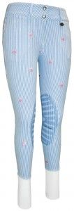 Equine Couture Ladies Stripe Whales Knee Patch Breeches. STAAAHHHHP with how cute these are!