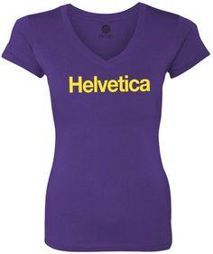 Helvetica (Yellow) Women's Short-Sleeve V-Neck T-Shirt