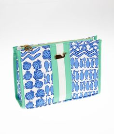 Jen's Pick! Women's Accessories: Buy Sealife Patchwork Make-up Bag | Vineyard Vines