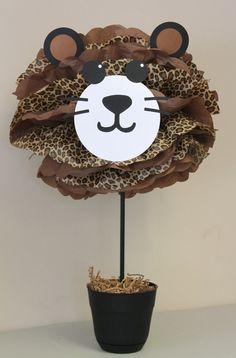 Leopard Cheetah pom pom kit jungle safari by TheLittlePartyShopNY                                                                                                                                                                                 Más