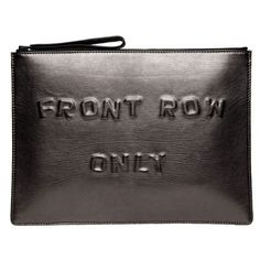 Boyy Front Row Only Clutch (1.965 BRL) ❤ liked on Polyvore featuring bags, handbags, clutches, accessories, purses, kirna zabete, leather handbag purse, leather purse, metallic clutches and metallic purse