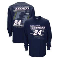 Stay warm as you cheer on #ChaseElliott and the No. 24 team this season with the 2016 long sleeve schedule t-shirt!