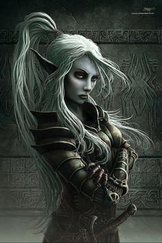 drow elf female warrior