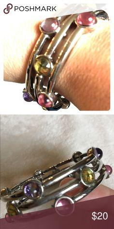 Lia Sophia Bracelet Beautiful multi color gem Lia Sophia bracelet, like brand new. Lia Sophia Jewelry Bracelets