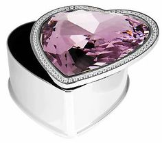 Silver and Gold Jewelry Safekeeper Heart Shaped Gem Box by Lori Greiner