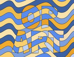 Op Art Graphics and Coloring Pages - 12 images to help you teach op art.