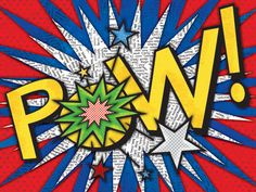 Pow! Canvas Reproduction