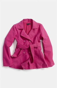 Pumpkin Patch Trench Coat (Little Girls & Big Girls) available at #Nordstrom