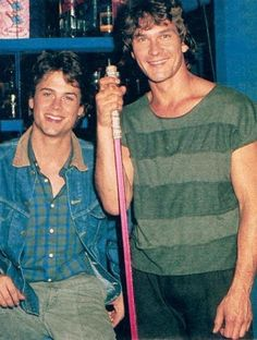 Rob Lowe & Patrick Swayze- I'm shocked the camera didn't combust!! In their time.....these guys were HOT!!