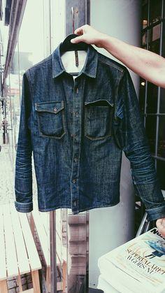 Nudie Gunnar Shirt Organic Dry #denim #jeans #blue #retro #fashion #menswear #rugged #workwear #selvedge