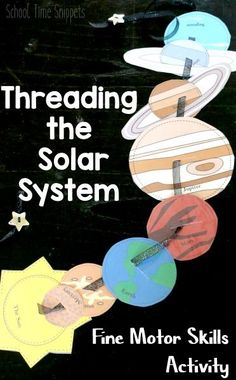 Solar System Button Snake DIY-- clever fine motor skills and science activity!