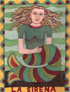 Card illustration #1 for new mermaid series.