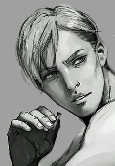 Erwin Smith-->This is really good and all, but look at his caterpillars. Look at them. Poor Eyebrows.