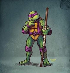 Donatello by Donovan Alex Ninja Turtle Drawing, Ninja Turtle Tattoos, Ninja Turtles Art, Teenage Mutant Ninja Turtles, Nija Turtles, Tmnt, Arte Nerd, Renaissance Artists, Cultura Pop