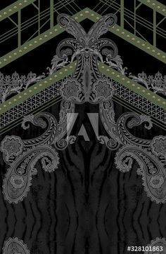 Pattern Design, Print Design, New Embroidery Designs, Border Ideas, Botanical Drawings, Floral Border, Textile Design, Art Lessons, Baroque