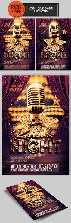 Karaoke Flyer Music flyer, Karaoke and Flyer template - comedy show flyer template