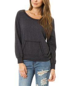 Look at this Venley Heather Black Crewneck Sweatshirt on #zulily today!