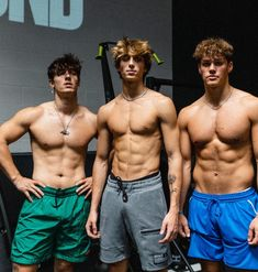 Bryce Hall, Josh Richards, Future Boyfriend, Rainbow Hair, Cute Boys, Handsome Boys, Shirtless Men, Funny Pictures, Swimwear