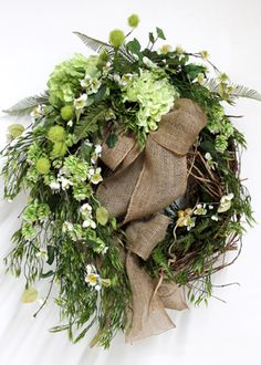 Country Front Door Wreath, Spring & Summer Wreath!