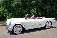 1954 Corvette. I want one. And it has to be white