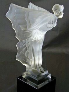 REFLECTIONS — René Lalique Art Deco Lady Figurine.