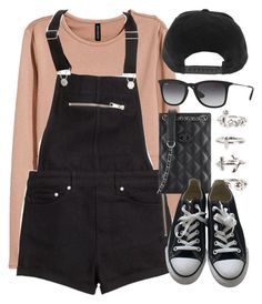 """Sin título #12404"" by vany-alvarado ❤ liked on Polyvore featuring H&M, Chanel, NLY Trend, Converse and Ray-Ban"