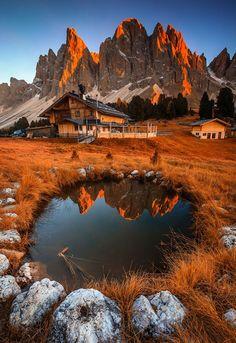 Rifugio delle Odle - Dolomites, Italy ©Muharrem ünal   500px.com   #Dolomiti #Italia #Dolomiten #Italien