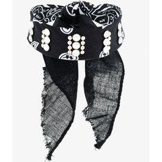 Dannijo Rocka Studded Bandana Choker ($135) ❤ liked on Polyvore featuring jewelry, necklaces, black, studded choker necklace, choker jewellery, dannijo, choker necklaces and dannijo necklace