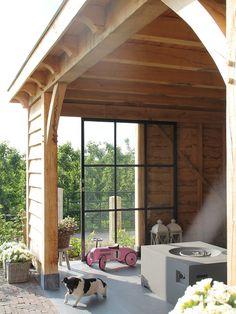 Patio Decor - Patio Design and Furniture Backyard Patio, Backyard Landscaping, Corner Garden, Garden Studio, Outdoor Living, Outdoor Decor, Shed Plans, Patio Chairs, Patio Design