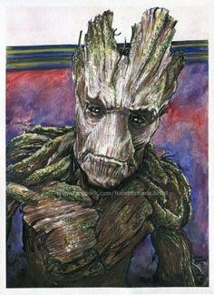 groot___guardians_of_the_galaxy___painting_by_natemichaels-d8rihb3.jpg.cf.jpg (399×549)