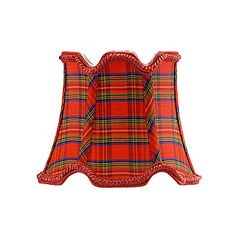 29-0050 OVAL-PLAID RED-6 PCS