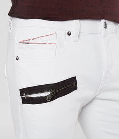 Boys Jeans, Men's Jeans, Fly Shoes, Greaser, Men Clothes, Stretch Jeans, Stretch Fabric, White Jeans, Biker