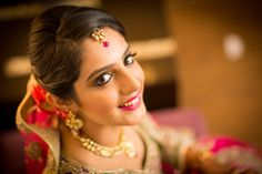 Bridal Portrait from a recent Noida wedding, shot in February 2014