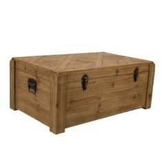 Dutchbone Lon Wooden Storage Box by Cuckooland, the perfect gift for Explore more unique gifts in our curated marketplace. Wooden Trunks, Wooden Storage Boxes, Rustic Style, Storage Solutions, Storage Chest, Vintage, Home Decor, White Cottage, Logs