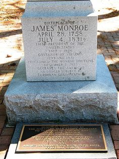 Birthplace of James Monroe at the James Monroe Family Home Site, Colonial Beach, Virginia