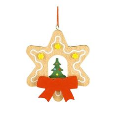 cool Christian Ulbricht Ornament - Christmas Tree In Gingerbread StarChristian Ulbricht Ornament - Christmas Tree In Gingerbread Star - 3H X 2.5W X .25D