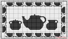 Rectangle 15 for cross-stitch, filet crochet Filet Crochet Charts, Crochet Borders, Crochet Patterns, Cross Stitch Freebies, Cross Stitch Charts, Cross Stitch Patterns, Crochet Tablecloth, Crochet Doilies, Fillet Crochet