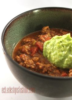 Paleo Pumpkin Chili with Avocado Cream | Especially Creative Broad