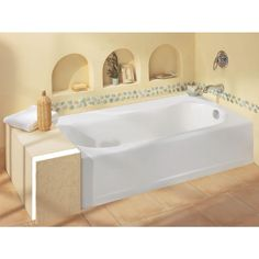 american standard princeton luxury ledge 5 ft americast bathtub in white at the home