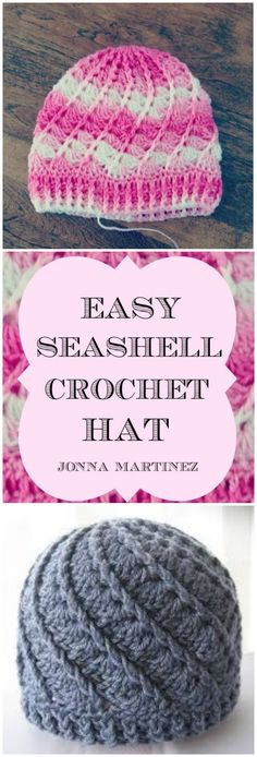 How to Crochet Sea Shell Hat