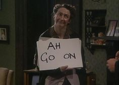 BBC's Father Ted with Mrs. Doyle and her tea. Father Ted, British Humor, British Comedy, Little Britain, Im A Loser, Irish People, Erin Go Bragh, Irish Quotes, You Make Me Laugh