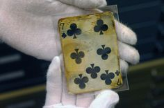 Seven of clubs from Titanic wreckage