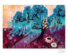 Blue Willow Premium Giclee Print by Natasha Wescoat at Art.com